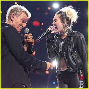 Miley Cyrus Rocks Out for Surprise iHeartRadio Music Festival Performance with Billy Idol