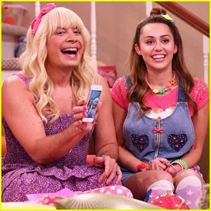 Miley Cyrus Joins Jimmy Fallon In 'Ew' Sketch - Watch!