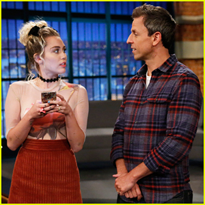 Miley Cyrus Joins Seth Meyers In Froced Friendship 'Late Night' Sketch! (Video)