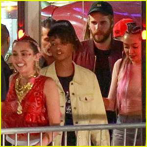 Miley Cyrus Sees Drake in Concert with Liam Hemsworth, Jaden Smith, & More!
