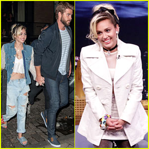 Miley Cyrus Tapes 'Fallon' Appearance, Goes on Date with Liam Hemsworth