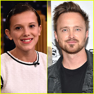 'Stranger Things' Millie Bobby Brown Meets Up With Her 'Adoptive' Dad Aaron Paul!