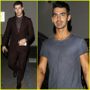 Nick & Joe Jonas Grab Dinner With Camilla Belle & Halston Sage