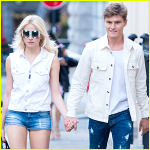 Oliver Cheshire Lunches With Pixie Lott Ahead of The Pedal To Paris Event