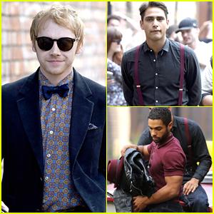 Rupert Grint Continues Filming 'Snatch' With Luke Pasqualino