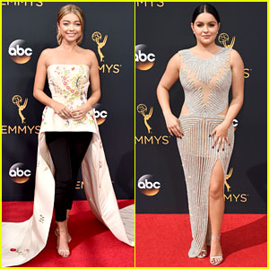Modern Family's Sarah Hyland & Ariel Winter Hit the Emmys 2016 Red Carpet