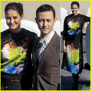 Shailene Woodley Gets Colorful for 'Snowden' Photo Call in Spain