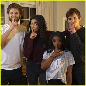 Simone Biles Meets 'Pretty Little Liars' Cast During Set Visit