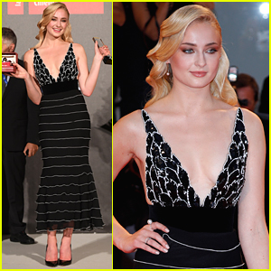 Sophie Turner Wows on Red Carpet For Kineo Diamanti Award Ceremony in Venice