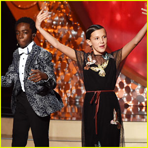 Millie Bobby Brown & 'Stranger Things' Kids Perform in Unaired Emmys Moment! (Video)