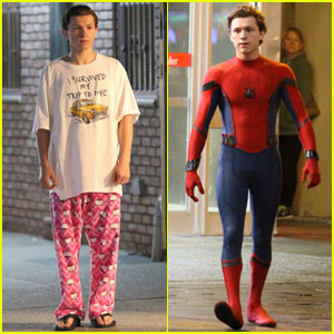Tom Holland Wears 'Hello Kitty' PJs for 'Spider-Mann: Homecoming' Scenes!