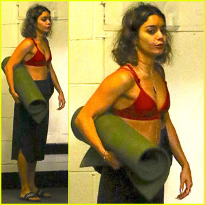 Vanessa Hudgens Works Up a Sweat at Yoga Class!