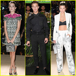 Zoey Deutch, Cameron Dallas, & Sofia Richie Attend Dolce&Gabbana Show in Milan