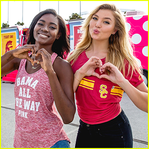 Zuri Tibby & Rachel Hilbert Kick Off Victoria's Secret Pink Bus Tour