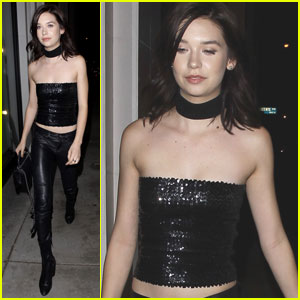 YouTube Star Amanda Steele Rocks Sparkly Tube Top at Dinner!