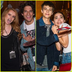 Bella Thorne, Tyler Posey & Rowan Blanchard Check Out Halloween Horror Nights