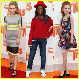Brec Bassinger & Marsai Martin Check Out the 'Trolls' Premiere!
