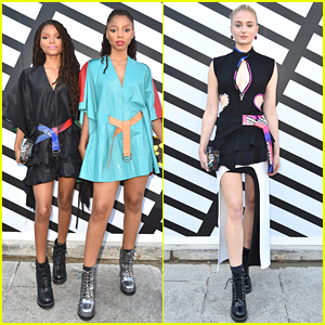 Chloe x Halle Sit Front Row at Louis Vuitton with Sophie Turner at Paris Fashion Week