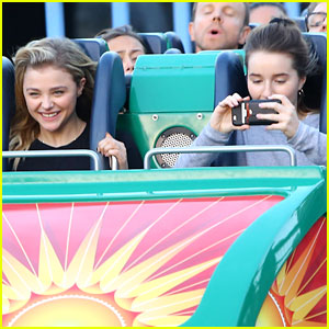 Chloe Moretz Spends Sunday at Disneyland with Kaitlyn Dever!
