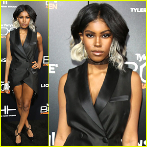 Singer Diamond White Rocks Two-Toned Hair at 'Boo! A Madea ...