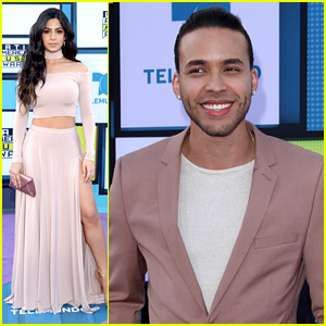 Emeraude Toubia Celebrates Prince Royce's Wins at Latin AMAs 2016