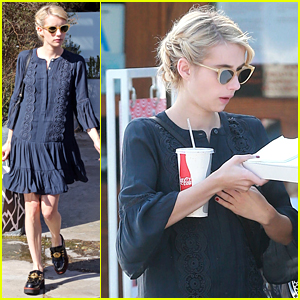 Emma Roberts Picks Up Lunch After Sharing Aunt Julia Roberts' Advice About Voting