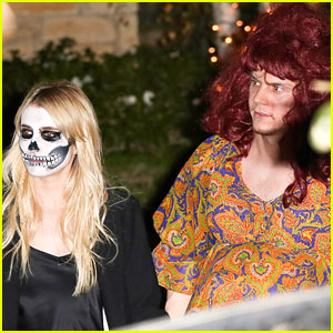 Emma Roberts & Evan Peters Dress Up for Halloween!