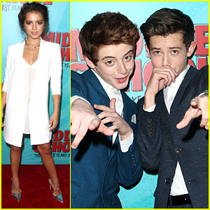 Isabela Moner, Griffin Gluck & Thomas Barbusca Attack Rob Riggle With Silly String at 'Middle School Movie' Premiere!