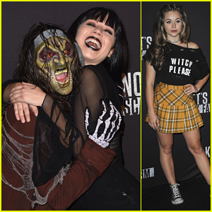 Jennette McCurdy Goes Goth For Knott's Scary Farm 2016 Opening