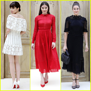 Lily Collins, Shailene Woodley & Hailee Steinfeld Hit Valentino's Show at Paris Fashion Week