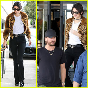 Kendall Jenner Goes Shopping with a Bodyguard