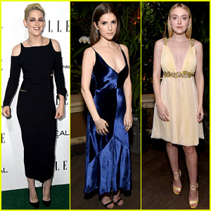 Kristen Stewart, Anna Kendrick & Dakota Fanning Get Glam for 'Elle' Women In Hollywood Awards!