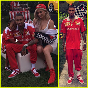 Kylie Jenner Helps Tyga Throw King Cairo Ferrari Themed Birthday Party!