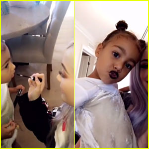 Kylie Jenner Gives North West a Makeover With Her New Lip Kit Color!