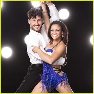 Laurie Hernandez & Val Chmerkovskiy Salsa For Latin Night On DWTS Season 23 Week 6