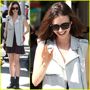 Lily Collins Steps Out for Lunch After Some Exciting Awards News!