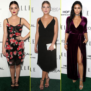 Lucy Hale, Ashley Benson, & Shay Mitchell Rep 'PLL' at Elle Women In Hollywood Awards 2016