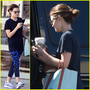 Lucy Hale Runs Early Morning Errands After Final Table Read for PLL