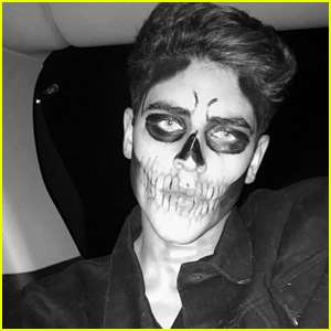 Jack Gilinsky Let Madison Beer Do His Halloween Makeup!