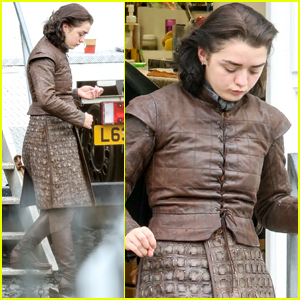 Maisie Williams Steps Out in Costume on the 'Game of Thrones' Set