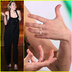 Miley Cyrus Asked About Engagement Ring From Liam Hemsworth - Watch Now!
