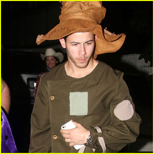 Nick Jonas Hits Up Halloween Party as Scarecrow!