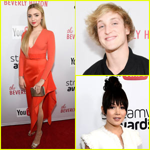Peyton List, Logan Paul, & Kelli Berglund Hit The Red Carpet at the Streamy Awards