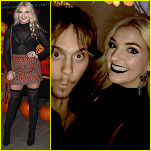 Rydel Lynch & Ellington Ratliff Have Spooky Date Night at 'Rise Of The Jack O'Lanterns'