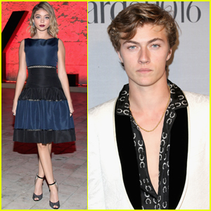 Sarah Hyland & Lucky Blue Smith Get Fashionable at InStyle Awards