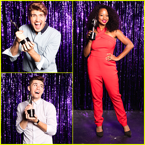 Joey graceffa monique coleman step out for streamy awards nominee joey graceffa monique coleman step out for streamy awards nominee reception partial winners list announced m4hsunfo