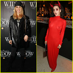 Suki Waterhouse & Charli XCX Dress Up for Veuve Clicquot Halloween Exhibition
