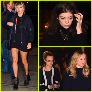 Taylor Swift is Joined by Lorde, Cara Delevingne, & More Friends at Kings of Leon Show in NYC!
