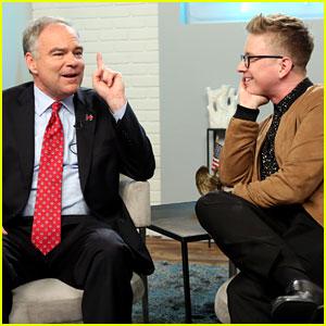 Tyler Oakley Interviews Senator Tim Kaine on His Show - Watch Now!