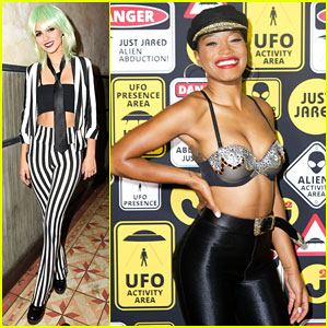 Victoria Justice & Keke Palmer Both Bring Fierce Looks to #JJALIENS Party!